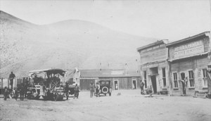 Downtown Midas around 1928. Photograph from the Northeastern Nevada Museum collections, Elko.