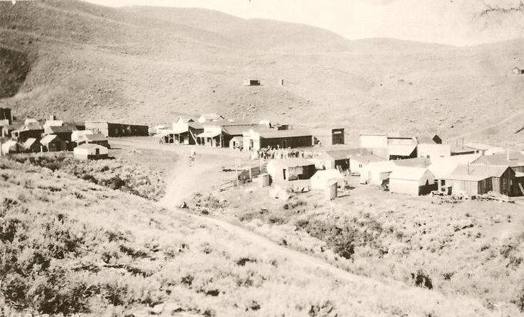 The lone building on the hill in the background was a schoolhouse.
